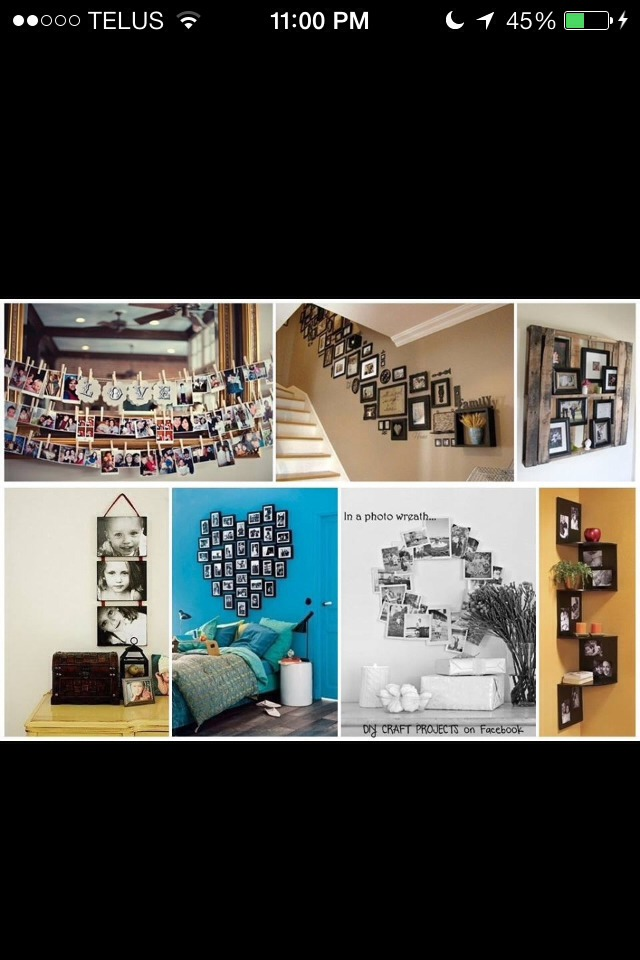 Some cool designs to have your pictures looking organized!