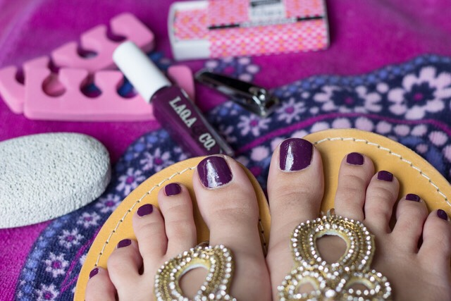 Giving yourself a pedicure... Choosing a ravishing color is beyond!