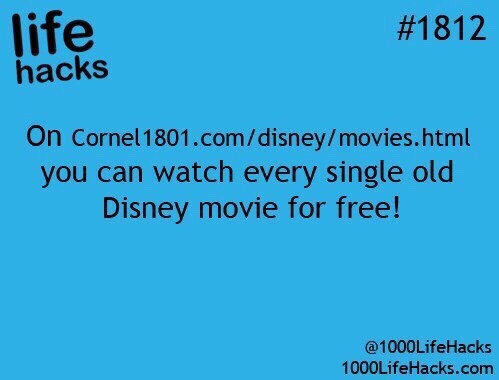I know this isn't really a school life hack but come on who doesn't like Disney!😘