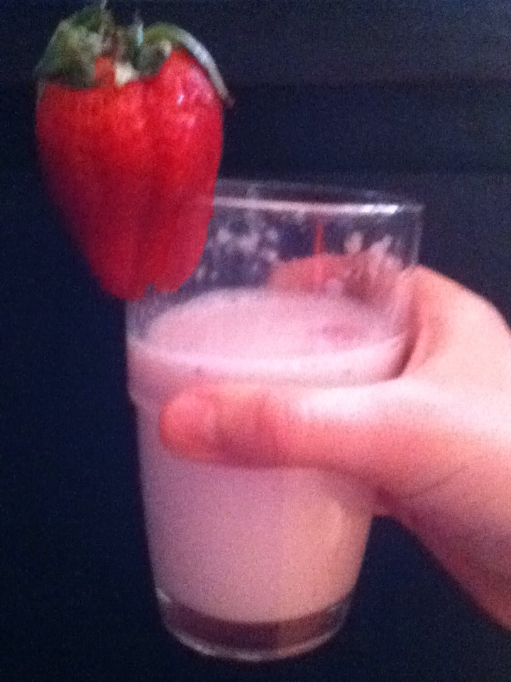 This strawberry milkshake is so delicious and easy