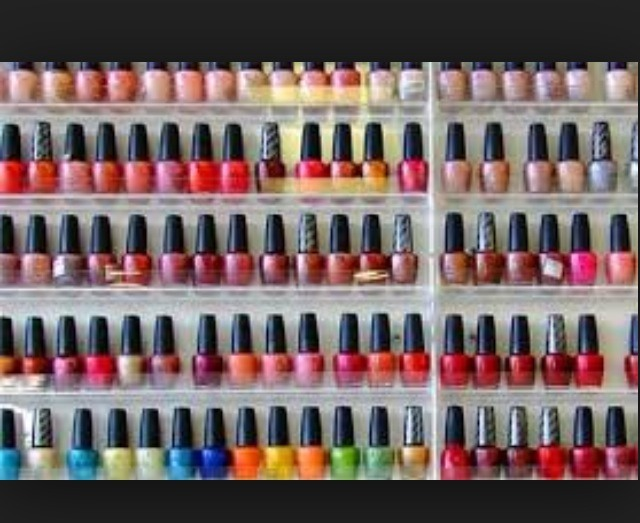 Make sure polishes are organized, or at least in one area, to avoid losing any polishes.