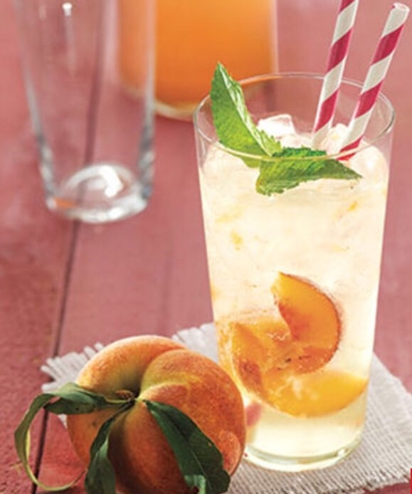 Ginger-Peach Soda http://www.womansday.com/food-recipes/food-drinks/recipes/a39503/ginger-peach-soda-recipe-clv0613/