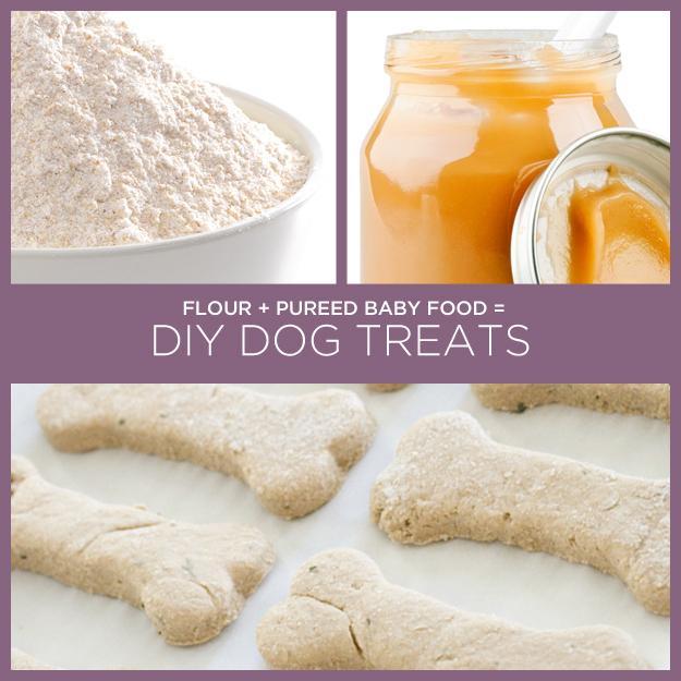 Flour + Pureed Baby Food = DIY Dog Treats