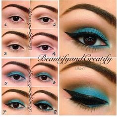 How to apply blue eye shadow