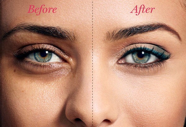 Eye circles can have a weighty effect on how you look. Cover under eye circles with concealer to hide them and blend your eyelids into the rest of your face. You can also add a white eye shadow or highlighter to the outside and inside corners of your eyes to help them stand out and a thinner look...