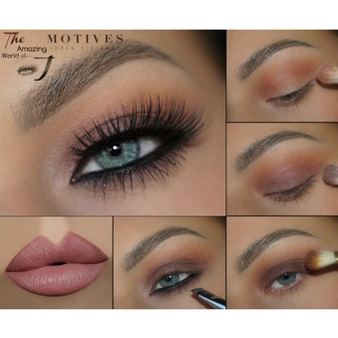 For a cute summer look, use more nude or bronze colours in your palette for