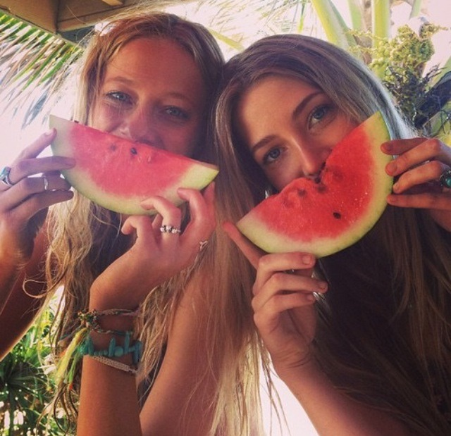 Watermelon puts a smile on everyone's face