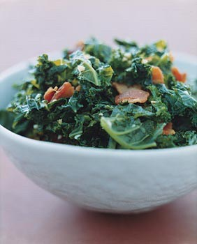 Kale with garlic and bacon http://www.epicurious.com/recipes/food/views/Kale-with-Garlic-and-Bacon-233008