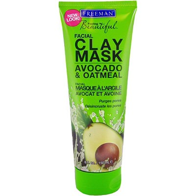 I first put on this avocado and clay mask before I wash my face