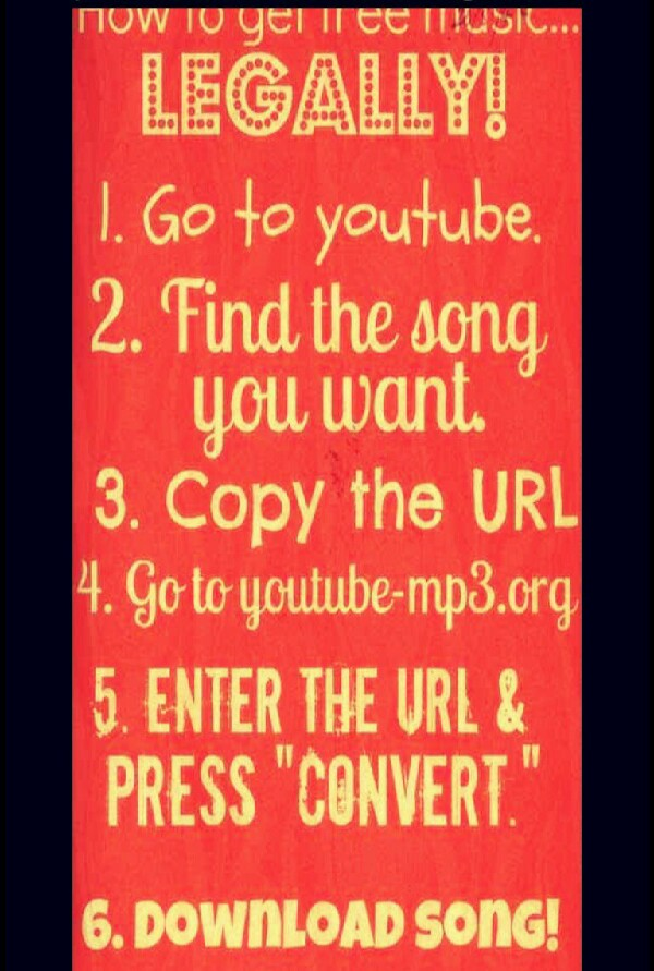 Download any song straight from Youtube for free! :D