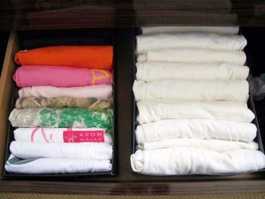 7. Use old shoe boxes as drawer organizers.
