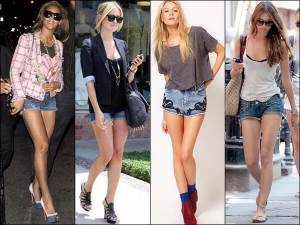 Instead of wearing heels wear converse , toms, or something you like. Walking in heels on a hot day can be bothersome.