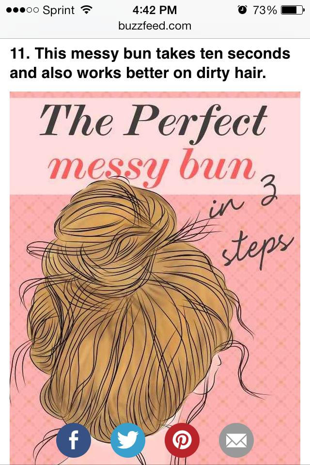 Refer to Messy bun in my recent tips for the three steps tutorial