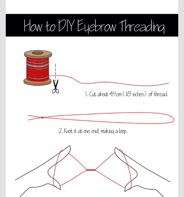 Musely how to diy eyebrow threading solutioingenieria Image collections