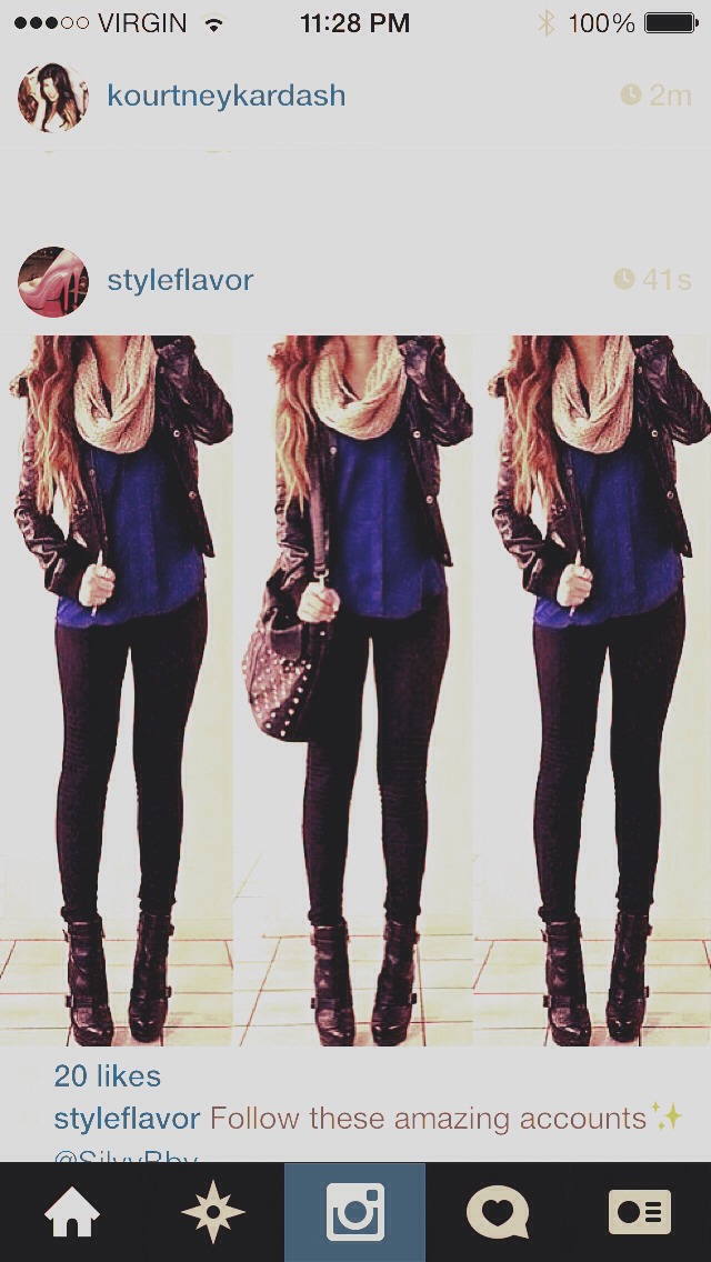 stole it from Instagram - pretty much my day to day wear. leggings and a great scarf are my fave !