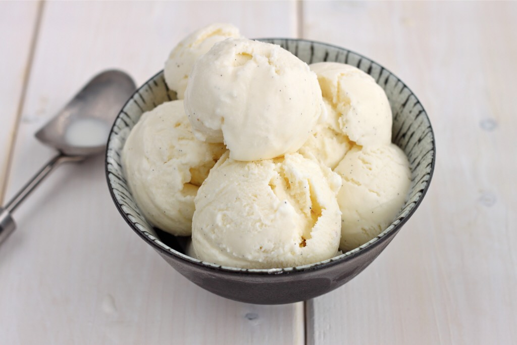 Add any type of ice cream inside the place where you scooped out the seeds there should be a circular hole