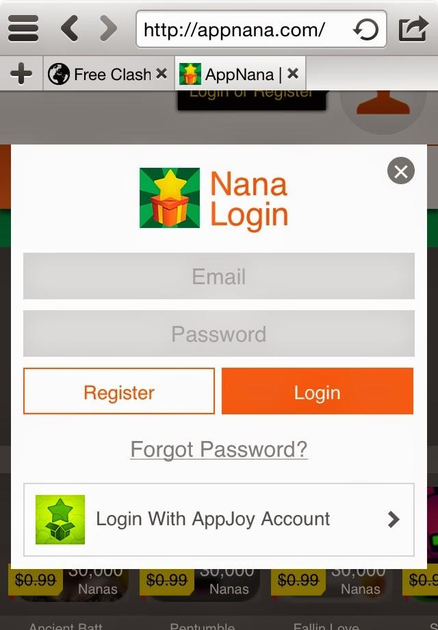 after installing the app, you should register and you will get 10,000 nana points