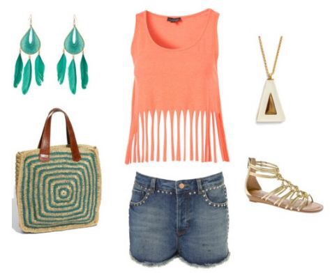 You know it's a hot day, but you have no idea what to wear? This outfit solves it ALl it can be really simple, but it still looks like you are like a fashion guru. It is really nice, and it goes with this amazing necklace that everyone will want.