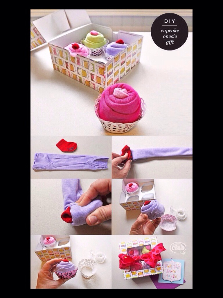 """Such a cute idea for a baby shower gift or maybe to give your mom the news 👶💗 """"hi grandma!"""""""