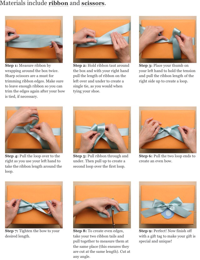 24. No ribbon? Use paper tape to create the illusion of well tied ribbon.  SIDE NOTE Another option for gift tags is just drawing them on!
