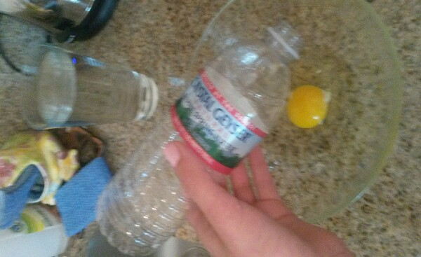 empty and clean a plastic bottle