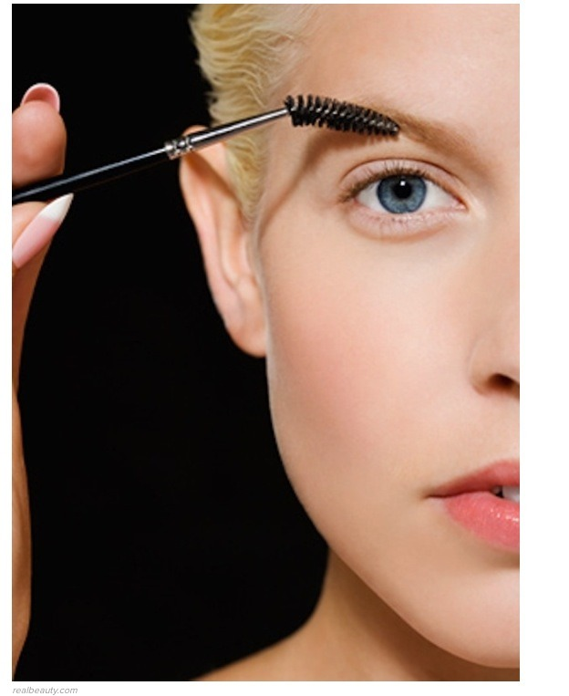 use a mascara wand to form and tame eyebrows