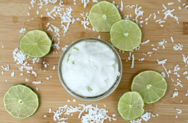 Ingredients 1/2 cup solid coconut oil 1 cup white sugar 1/2 tsp Peppermint Oil   1 lime zested 8 oz mason jar Directions Whip the coconut oil in a bowl with a hand mixer Then add the remaining ingredients and blend until mixed for 1 – 2 minutes. Scoop into an 8 oz mason jar and seal.