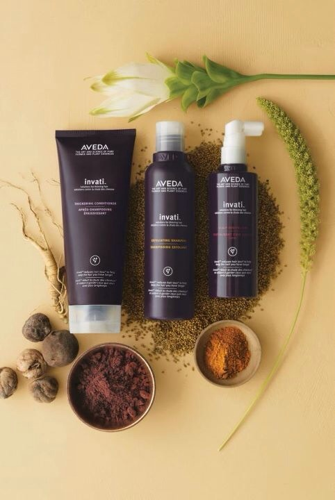 Aveda's Invati system works wonders.