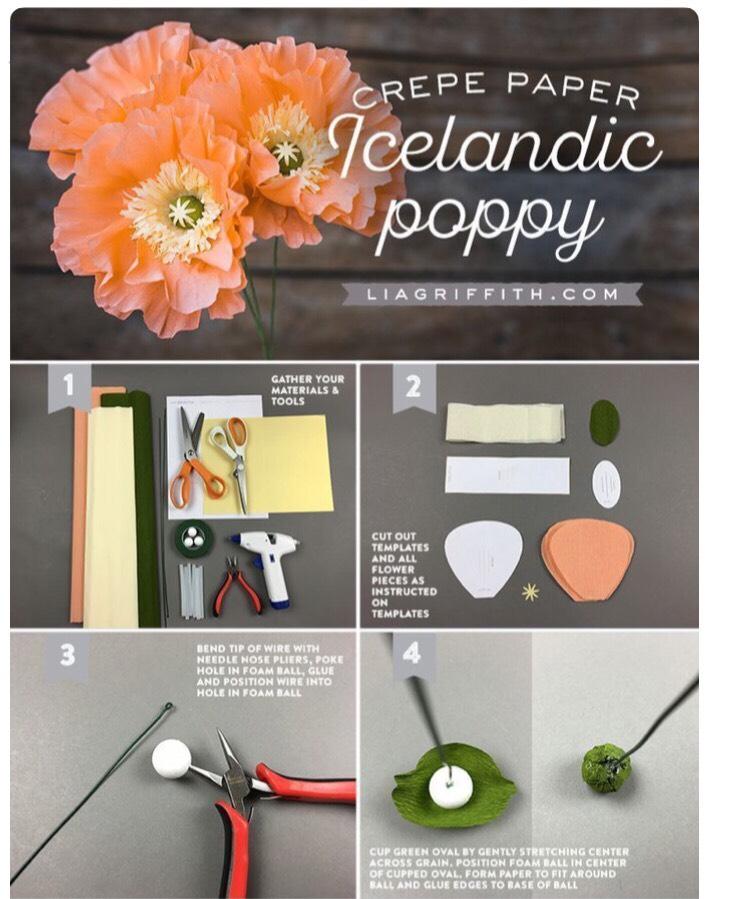 Icelandic Poppy Paper Flowers By Jo Musely