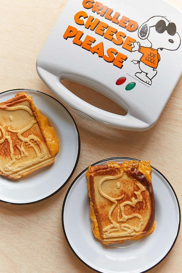 This grilled cheese maker that combines your love for waffles with your love for Peanuts, because obvs.
