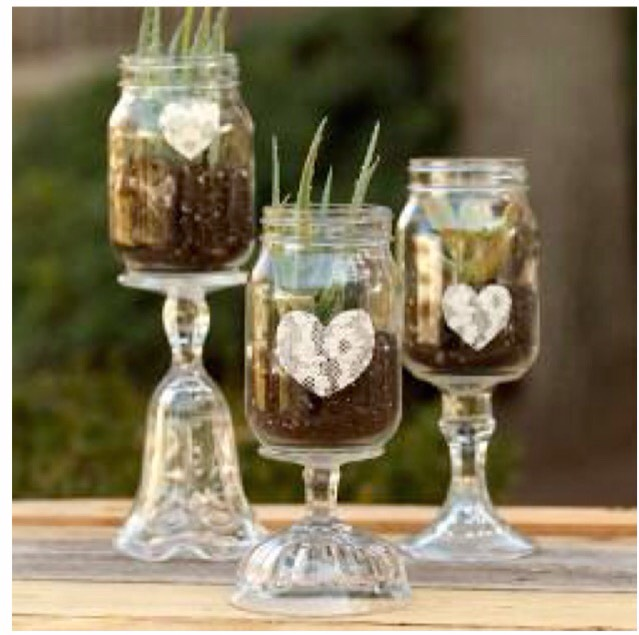 Materials:  Aleene's® Max Tacky Adhesive  Canning jar  Trims and embellishments  Instructions:  Glassware (candlestick or sundae dish).  Clean and fully dry glassware.  Apply Max Tacky to glass. Adhere pieces together as desired. Let dry.  Use Max Tacky to embellish with your favorite trims.