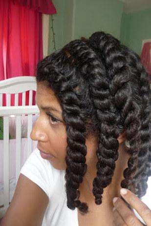 Twists for natural hair can be tucked back or together on a Tuesday, and undone for amazing curls on a Wednesday.