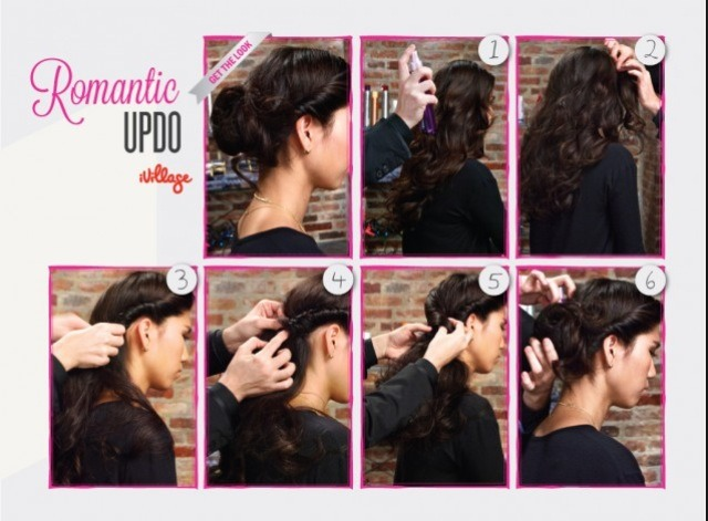 Romantic Updo for a romantic hairstyle