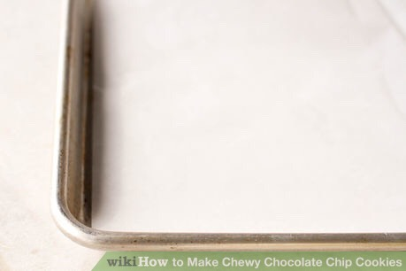 Apply cooking spray to a pan so that the cookies won't stick to the baking pan. Alternatively, line the pan with wax paper