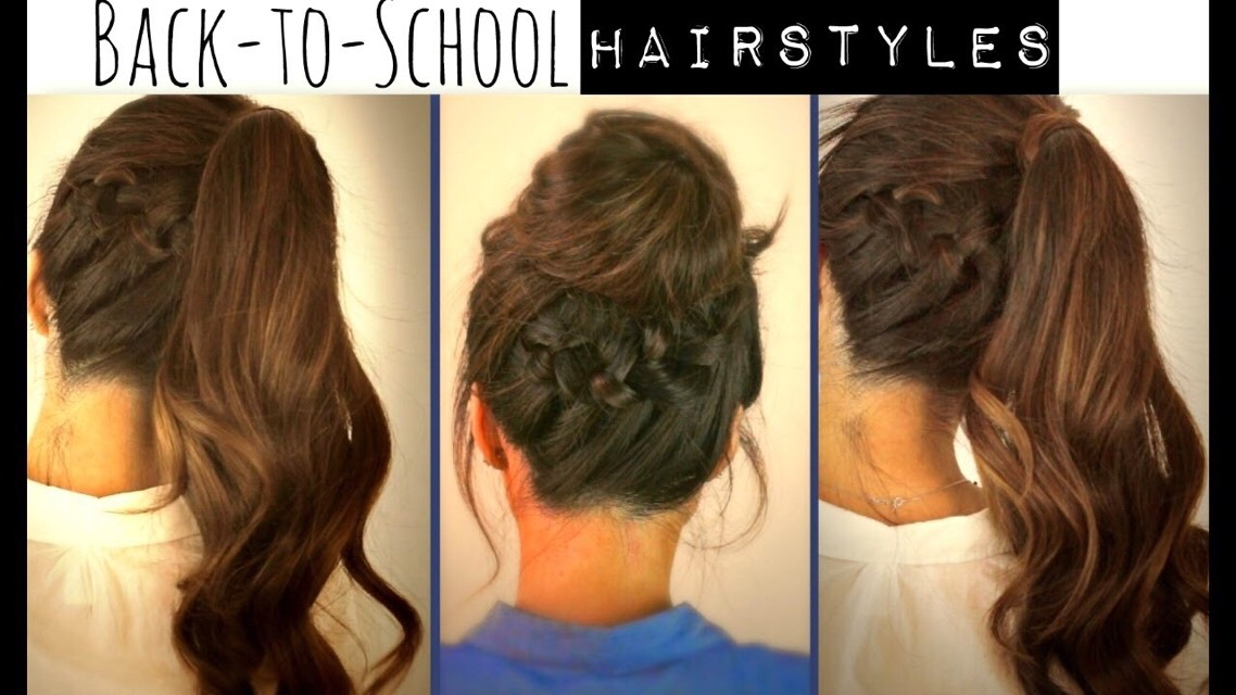 Easy Hairstyles For School daily hairstyles Super Easy Back To School Hairstyle Tutorials