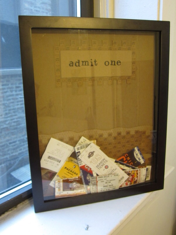 Save your tickets! Whether they are movie tickets or concert tickets it is always fun to look back at everything you have seen.