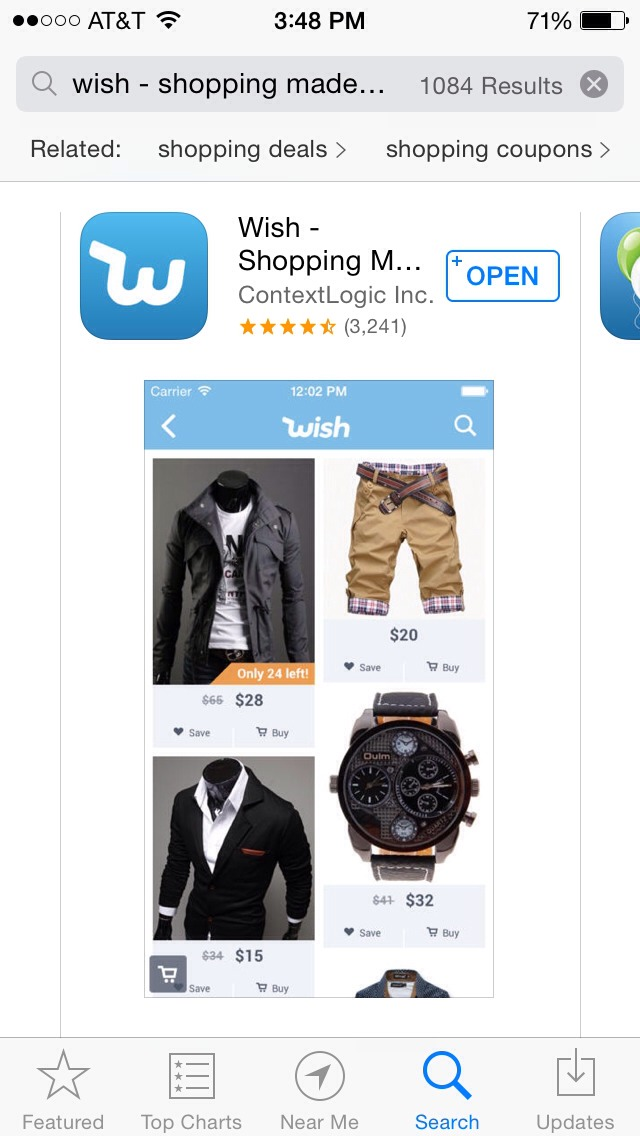 It's an online shopping app that has tons of deals daily. (Free in apple App Store)