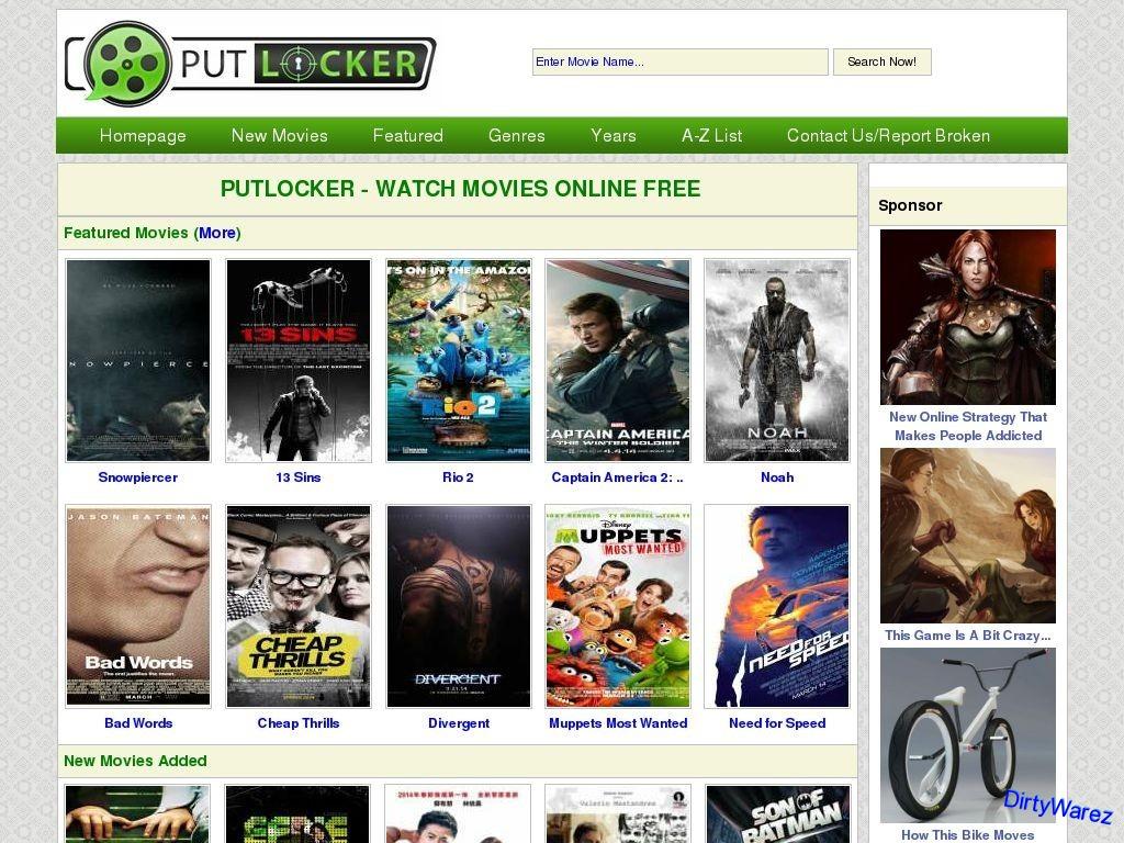 Putlocker.bz Search your film, and it will automatically show🙋 I personally recommend this🙊 It's easier✨ Only films💢