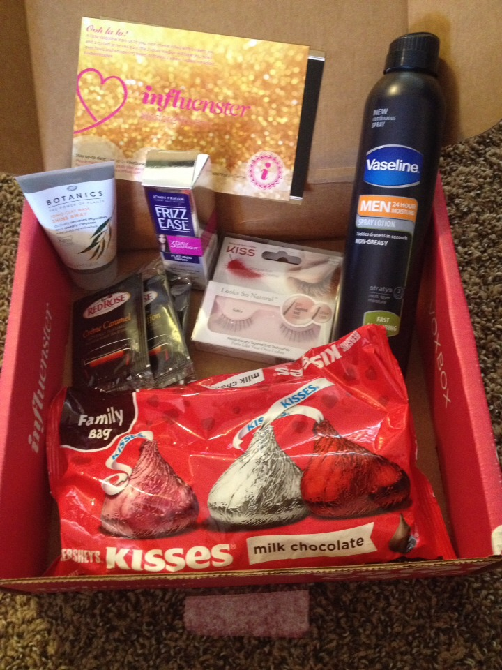 Influenster is an awesome site that allows you to try out new products for free in exchange for your opinion! This is the box I just received!