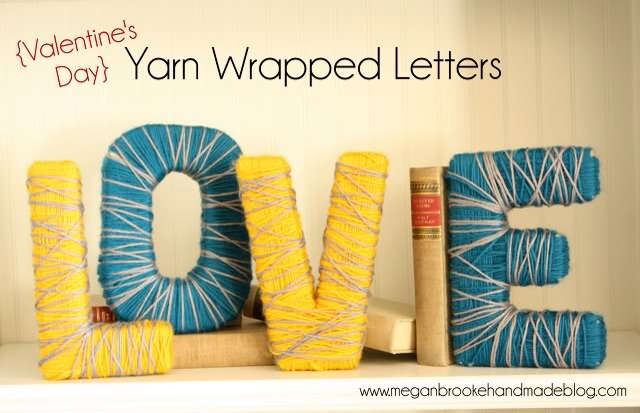 Yarn Wrapped Letters By Miss Atomic Bomb Musely