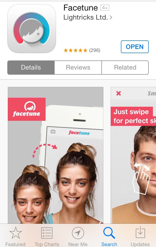 FACETUNE ($3)  Paying for apps seems like a waste of money, but I promise you will NOT regret this purchase. This is the best app on the market for photo editing. It's like photoshop, but easier to use and it's on your phone! They also have vid tutorials to help get a clean, unnoticeable edit!