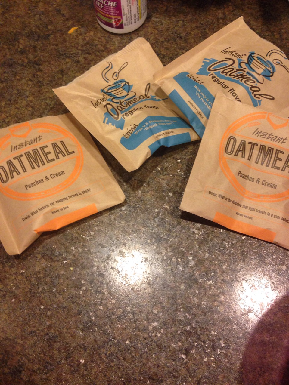 I used 4 packs of oatmeal. 2 regular and two peaches and cream for good smelling hair.