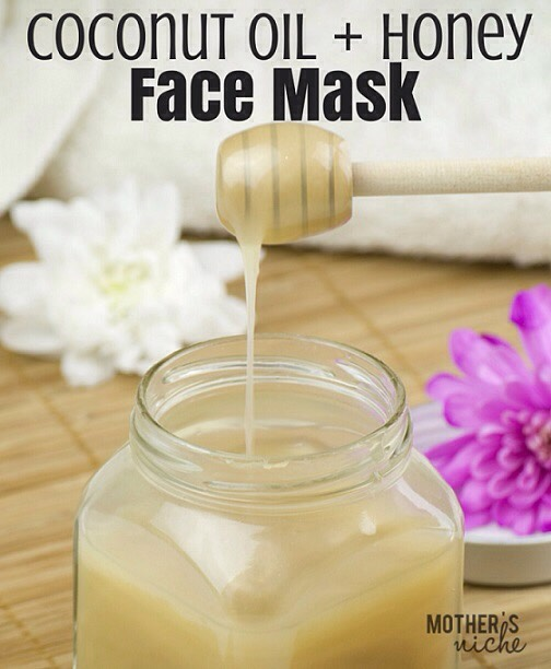 3DIY COCONUT OIL + HONEY FACE MASK |Facial masks rejuvenate the skin, restore its softness + glow + improve its overall appearance. +because we love-love-love coconut oil, our favorite DIY facial mask contains… well, you guessed it – pure, 100% organic coconut oil!