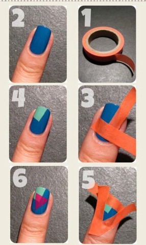 All you need is tape and 3 colors that go well together!