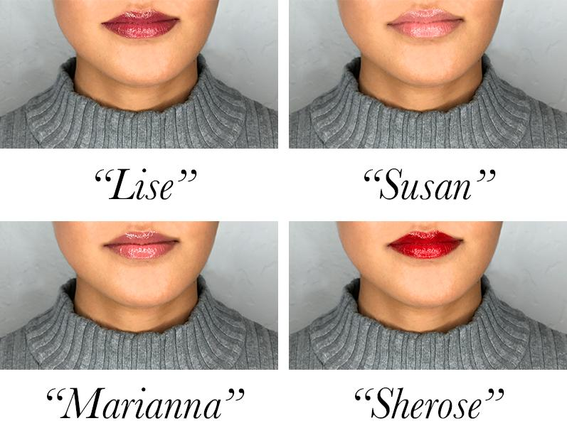 The Ready for Anything Set shades:- Top Left: Susan- Top Right: Lise- Bottom Left: Marianna- Bottom Right: Sherose