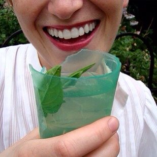 1. Squishable cups made from edible Jell-O