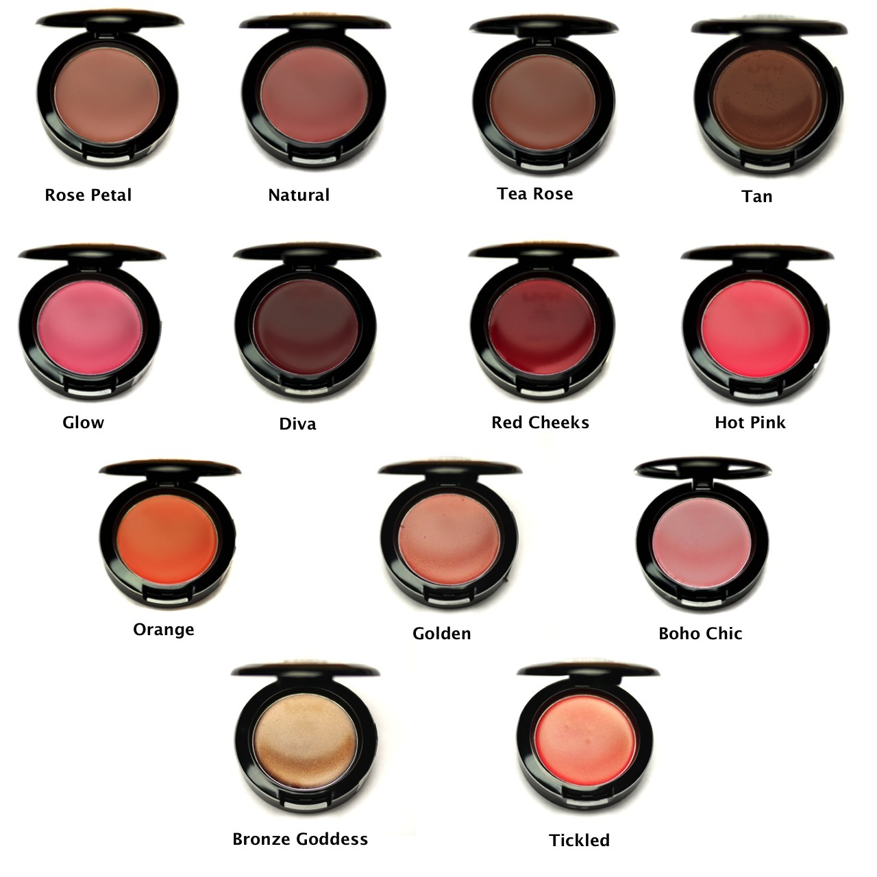 DOconsider the intensity of your blush with your skin tone. If you have fair to light skin, then pale pink, rose, or peach blush shades are more flattering than deep berry or plum shades, which can make your cheek area look bruised. In contrast, women with medium to tan skin tones can look gorgeous with berry or plum-hued blush, and also can opt for russet, or even mahogany shades.