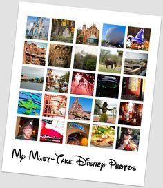 At your Disney vacation you'll wanna take tons of photos and although some may seem pretty obvious, it's easy to forget with everything going on. So here you go...