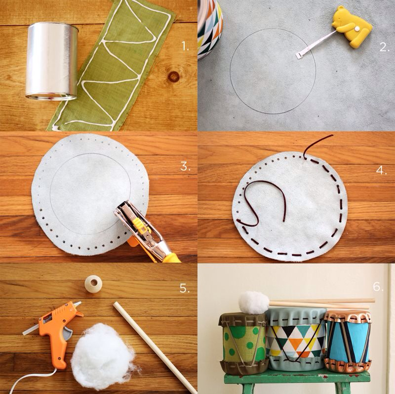 2. Lay out your leather and trace around your can. Measure 1 inch around the traced circle and draw another circle. 3. Use a pen to map out your holes. Use a Crop-a-dile to punch the holes out. If you don't have a Crop-a-dile, you can use a large needle to make your holes.