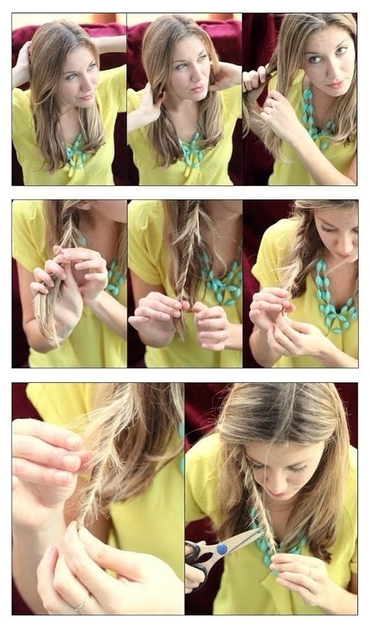 If you have split ends, but are not ready for a trim, try this hack. Twist sections of your hair together. Then, trim the little pieces that are sticking out to eliminate split ends.🌸